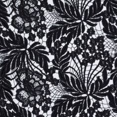 Special collection:  Mood's exclusive acquistion of fine designer lace fabrics from a leading lace atelier. This exquisite, metallic floral couture lace is destined to be the focal point of any special occasion dress or gown.