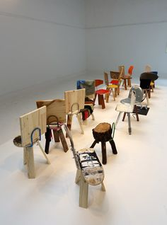 'More Than This' Chairs Collection made from Materials Often Found on the Streets