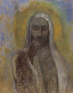 Odilon Redon - Christ du silence, pastel, 58 x 46 cm, 1896. Petit Palais, Paris.