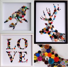 Use buttons for wall decor