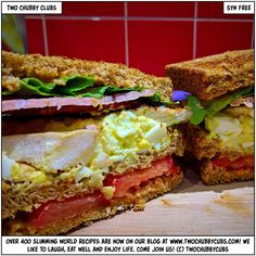 Looking for a sandwich? Oh knock yourself out with our two chubby club sandwiches - they're bloody amazing! Perfect Slimming World treat! Slimming World Dinners, Slimming World Recipes Syn Free, Get Thin, Lunch Snacks, Lunches, Healthy Eating Recipes, Healthy Food, Sandwiches, Good Food