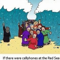 If there were cell phones at the Red Sea... #Selfie
