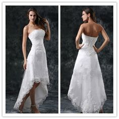 Cheap dress trainers, Buy Quality dress handbag directly from China gown ball dress Suppliers: Vestidos De Noiva Sexy V neck Backless High Low Bohemian Short Beach Wedding Dress 2014 Spaghetti Strap Lace Wedding Bri