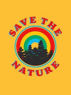 aesthetic room 'save the nature retro aesthetic environmentalist design' Sticker by Lexie Pitzen Aesthetic Collage, Aesthetic Grunge, Aesthetic Vintage, Aesthetic Black, Aesthetic Design, Yellow Aesthetic Pastel, Rainbow Aesthetic, Pastel Yellow, Yellow Black