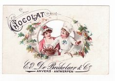 Chromo Publicitaire Ajouré - Chocolat De Beukelaer Anvers - Enfant Patissier