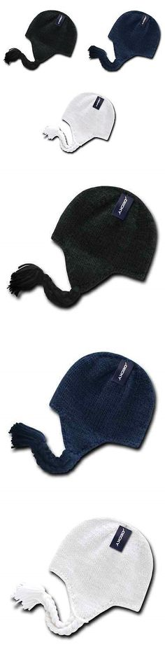 Mens Accessories 45053: 1 Dozen Decky Peruvian Knit Beanies Braided Ear Tails Chullo Caps Hats Wholesale -> BUY IT NOW ONLY: $74.99 on eBay!