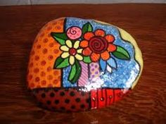 Image result for butterflies painted on rocks