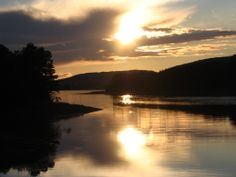Sunset on the water, in Mabou, Nova Scotia, Canada.  Photo by. J. Underwood.