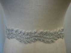 Wedding Belt, Bridal Belt, Sash Belt, Bridesmaid Belt - Crystal Rhinestone Belt - Style B144. $58.00, via Etsy.
