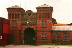 Front of Broadmoor Hospital, built specifically for the criminally insane.