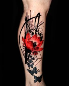 Looking for abstract tattoo ideas? Here are abstract tattoos contain the top most popular abstract geometric tattoo & abstract forearm tattoo designs. Tatuajes Tattoos, Bild Tattoos, Up Tattoos, Flower Tattoos, Body Art Tattoos, Sleeve Tattoos, Tattoos For Women, Tattos, Blue Rose Tattoos