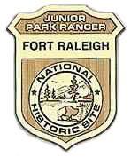 Fort Raleigh, Junior Ranger badge