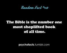 HAHAHA. bibles.
