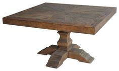 "Castle 55"" Square Dining Table traditional dining tables"