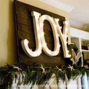 Joy to the World { Holiday Mantel }...