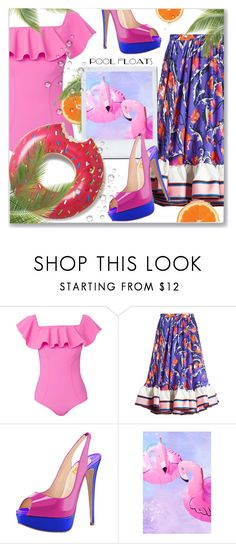 """""""Flamingo Floats"""" by interesting-times ❤ liked on Polyvore featuring Lisa Marie Fernandez, Emilio Pucci, Urban Outfitters and poolparty"""