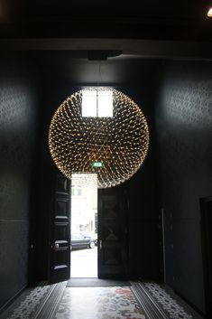 Loving the chandiler Pictures of the entrance of the office of the Marcel Wanders office / Moooi Design Studio in Amsterdam.