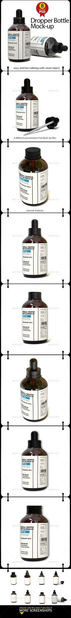 Dropper Bottle Mock-up - Product Mock-Ups Graphics