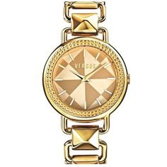 Women's VERSUS by Versace 'Coconut Grove' Pyramid Link Bracelet Watch,... ($260) ❤ liked on Polyvore