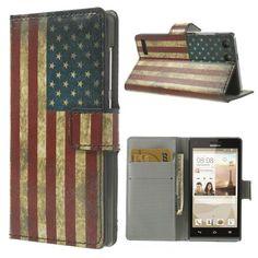 Mesh - Huawei Ascend G6 Hoesje - Wallet Case Amerikaanse Vlag | Shop4Hoesjes