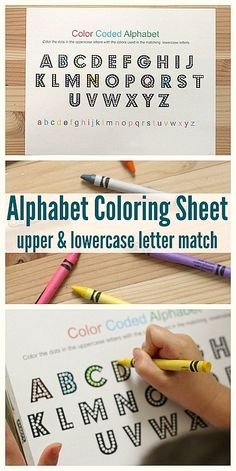 Cute little FREE coloring sheet that works on letter recognition. Alphabet Printables.