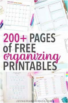 Free printable calendar pages, binders, planner pages, goal setting sheets, party printables and more can help you organize your life and increase your productivity! (And have I mentioned that they're pretty too?! ;) ) | #freeprintable #freeprintables #printablebinder #binderprintables #homebinder #householdbinder #homemanagementbinder