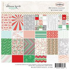 Websters Pages - Its Christmas Collection - 6 x 6 Paper Pad at Scrapbook.com