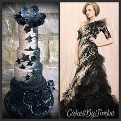 Based on a Wedding Dress for a black and cream themed wedding.