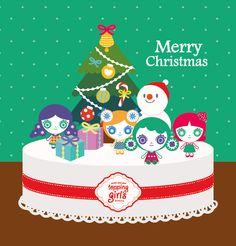 토핑걸즈표 크리스마스 케이크