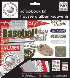 "8"" x 8"" Scrapbook Kit - Baseball"