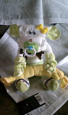 Diaper Cake - Diaper Baby Monkey - Baby Shower Gift on Etsy, $16.50
