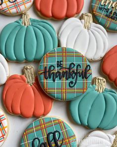 """Priscilla and Angela on Instagram: """"Choosing an attitude of gratitude today - what are you thankful for? . . . #customcookies #customsugarcookies #sugarcookies…"""""""