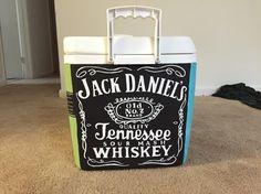 Jack Daniels painted fraternity cooler