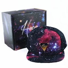 Hater Galaxy Snapback Hat & Exclusive Box Hand Made foamposite NEW on Etsy, $59.99