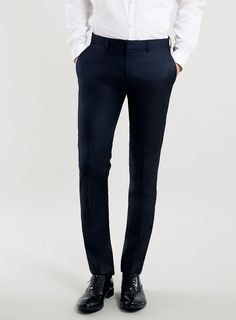 Navy Ultra Skinny Suit Trousers