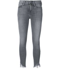 Grey shredded hem jeans from Frame Denim. Shop now! Hem Jeans, Grey Outfit, Frame Denim, Denim Fashion, Must Haves, Shop Now, Ready To Wear, Spandex, Skirts