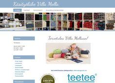 Neulelankoja myyvä käsityöliike Villa Molla perusti verkkokauppansa Kotisivukone-palvelun avulla.