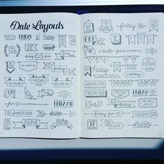 I gathered some Date headers from Facebook, IG and Pinterest all in one spread. These were found all over! Enjoy! #bulletjournaljunkie #bujojunkies #bulletjournaljunkies #bujojunkie #bujo #bulletjournal #bulletjournaling #dates #journalheaders #journal #dailyjournal #daily