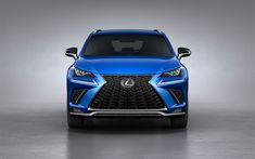Download wallpapers Lexus NX, 2018, 4k, front view, facelift, new NX, blue crossover, new front lights, Japanese cars, Lexus