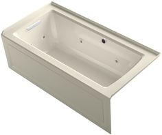 Archer Alcove Whirlpool Bath with Bask Heated Surface, Integral Apron, Tile Flange and Left-Hand Drain