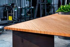 DD\M Architects, PlanTable, #custom #design #wood #green #iron #table #furnituredesign