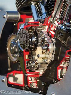 Indian Engine Cutaway Detail