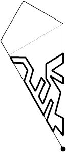 Paper pattern of snowflake3