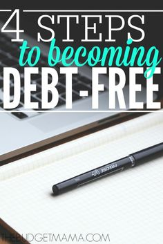 These four steps will help make the debt free journey easier and will help you pay off debt. Try one of these steps to become debt free.