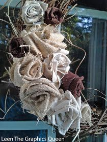 Rose Tutorial for Autumn Wreaths and More These easy to make burlap roses are perfect for Fall wreaths and bouquets! Sand Dollar LaneThese easy to make burlap roses are perfect for Fall wreaths and bouquets! Burlap Projects, Burlap Crafts, Fabric Crafts, Craft Projects, Rustic Crafts, Cute Crafts, Crafts To Do, Arts And Crafts, Diy Crafts