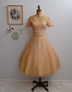Vintage 1950s Dress - 50s Lace Dress - The Mimieux on Etsy, $124.00