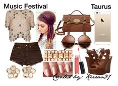 """""""Taurus - Polyvore"""" by blueofsymphony ❤ liked on Polyvore featuring Laura Geller, Topshop, Valentino, Levi's, Shaun Leane, Mulberry and G by Guess"""