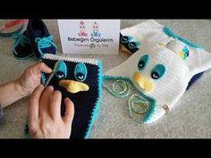 Vakvaklı (ördekli) atkı bere takımı yapımı atkı patik anlatımı - YouTube Crochet Lace Scarf, Crochet Hats, Crochet World, Working With Children, Baby Hats, Fingerless Gloves, Baby Knitting, Arm Warmers, Diy And Crafts