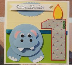 first birthday card / kartka na roczek