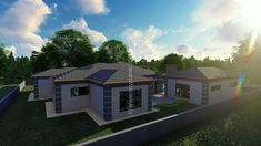 5 Bedroom House Plan - My Building Plans South Africa 5 Bedroom House Plans, My House Plans, My Building, Building Plans, Home Design Plans, Plan Design, African House, Floor Layout, Double Garage